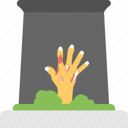 evil hand, ghost hand, grave hand, halloween celebration, zombie hand icon