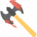 axe, cleaver, halloween, halloween accessory, spirit halloween icon