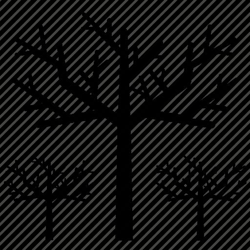 autumn, bare, bare tree, nature, october, tree icon
