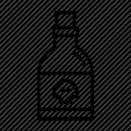 bottle, danger, halloween, medicine, potion icon