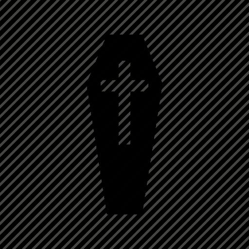 coffin, death, halloween icon icon