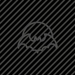 bat, halloween, hallowen, line, moon, outline, owl icon