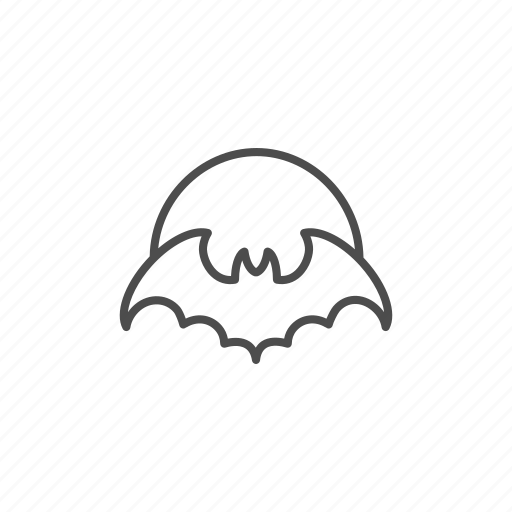 bat, halloween, hallowen, line, moon, outline, owl icon