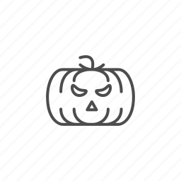 halloween, hallowen, line, outline, pumpkin icon