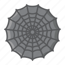 cobweb, halloween, holiday, net, scary, spider, web icon