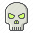 danger, dead, halloween, holiday, scary, skeleton, skull icon