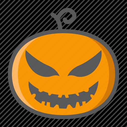 decoration, evil, halloween, holiday, horror, pumpkin, scary icon