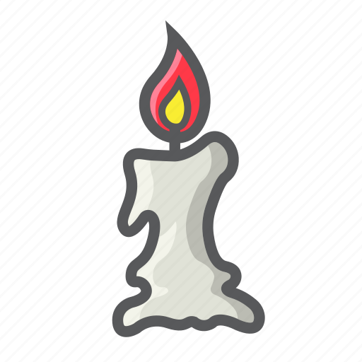 candle, christmas, church, easter, halloween, holiday, wax icon