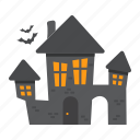 bat, creepy, halloween, holiday, horror, house, scary icon