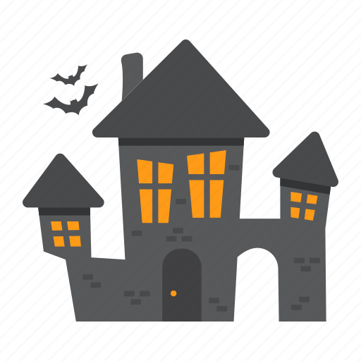 bat, creepy, halloween, holiday, horror, house, scary icon