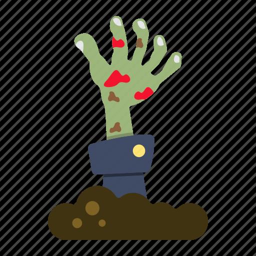 dead, halloween, hand, holiday, horror, scary, zombie icon