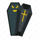 scary, halloween, cross, dead, holiday, coffin, grave