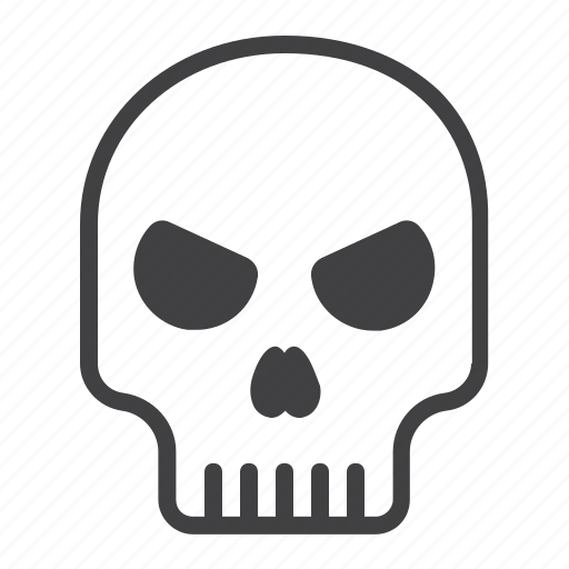 danger, dead, halloween, holiday, scary, skeleton, skull icon
