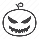 decoration, evil, halloween, holiday, horror, pumpkin, scary icon