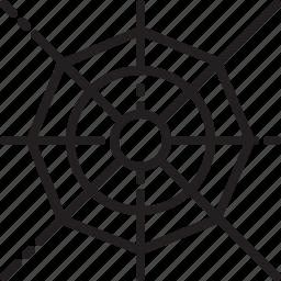 cobweb, death, evil, halloween, scary, spiderweb icon