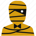 cartoon, cute, egyptian, halloween, horror, mummy icon