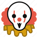 clown, demon, halloween, horror, monster, scary icon