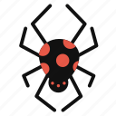 arachnid, cartoon, cute, halloween, horror, spider icon