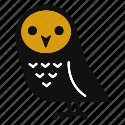 bird, cartoon, cute, halloween, horror, owl icon
