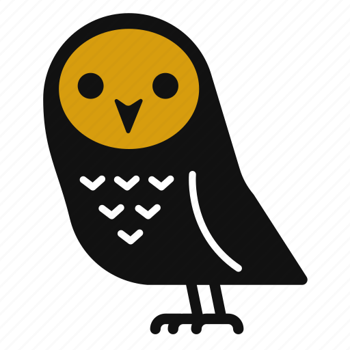 Bird Cartoon Cute Halloween Horror Owl Icon