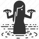 ghost, halloween, horror, phantom, scary, shadow, water icon