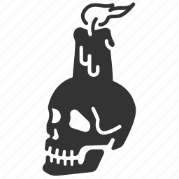 candle, decoration, halloween, horror, scary, skull icon