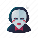 halloween, jigsaw, scary, spooky icon