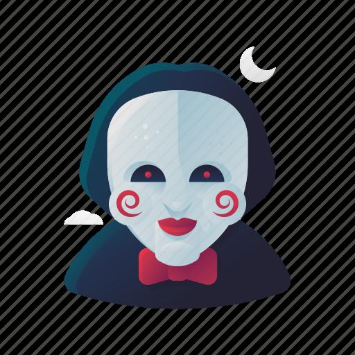 halloween, jigsaw, scary, spooky icon