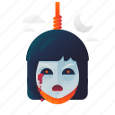 girl, halloween, monster, scary, spooky icon