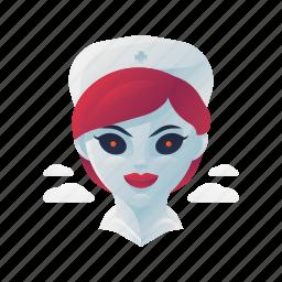 halloween, monster, nurse, scary, spooky icon