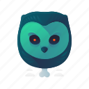 animal, halloween, owl, scary, spooky icon