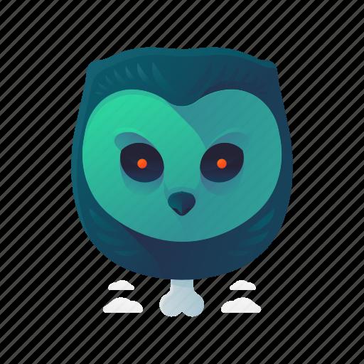 animal, halloween, owl, scary, spooky icon