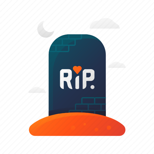 halloween, rip, scary, spooky, tombstone icon