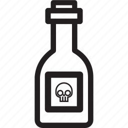 bottle, halloween, holiday, poison icon