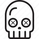 halloween, holiday, skull icon