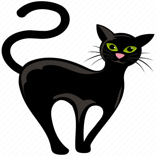 Animal Black Vat Cartoon Cat Demon Cat Face Feline