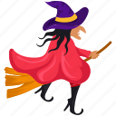 broom, broom stick, flying, halloween, halloween broom, holidays, magic, spooky, witch, witch broom, witch riding, wizard icon