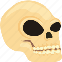 cranium, creepy, dead, death, evil, ghost, halloween, halloween cranium, halloween head, halloween skull, horror, skeleton, skull, skullcap icon