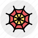 dreadful, fearful, ghastly web, halloween web, horrible, scary, spider web icon