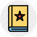 dreadful, fearful, horrible, horror book, scary book, star icon