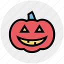 dreadful, fearful, halloween pumpkin, horrible, pumpkin, scary icon