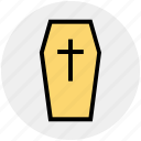 dreadful, halloween casket, halloween coffin, horrible, mummy, scary icon