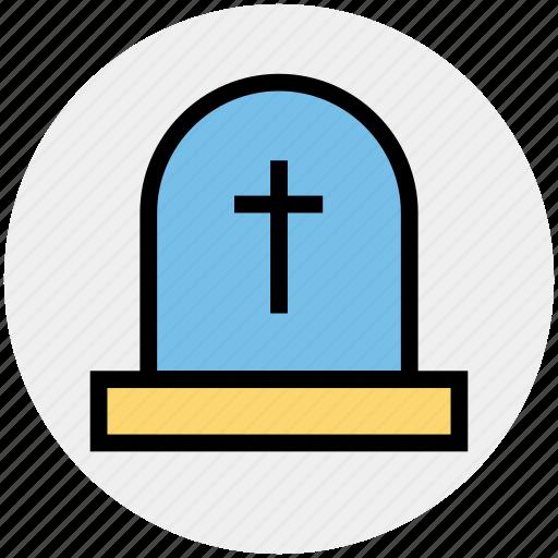 dreadful, halloween gravestone, halloween tombstone, headstone, scary, tombstone icon