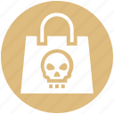 candy, danger, halloween, hand bag, spook, treat bag icon