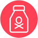 bottle, danger, death, flask, halloween, holiday, poison icon