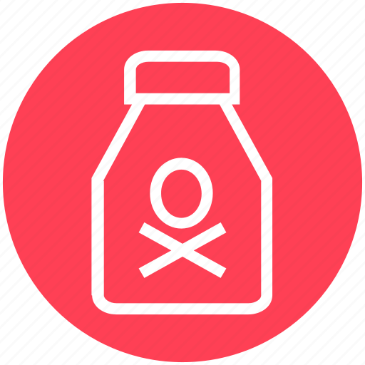 bottle, danger, death, flask, halloween, holiday, poison icon