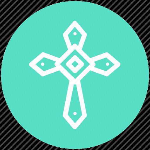 Graveyard cross, halloween cross, halloween graveyard cross, tomb cross icon - Download on Iconfinder