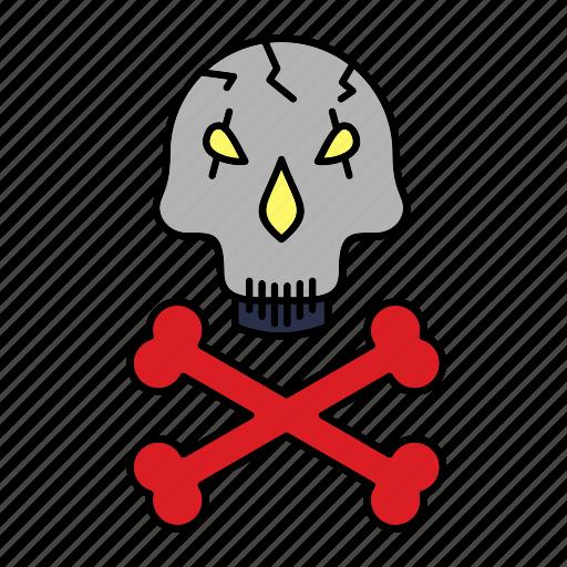bones, danger, evil, halloween, pirat, scary, sk icon