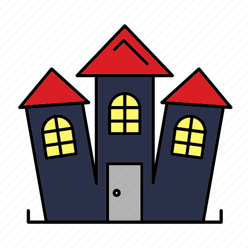castle, estate, halloween, haunted, property, scary icon