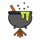 cauldron, halloween, magic, poison, witch, witchcraft icon